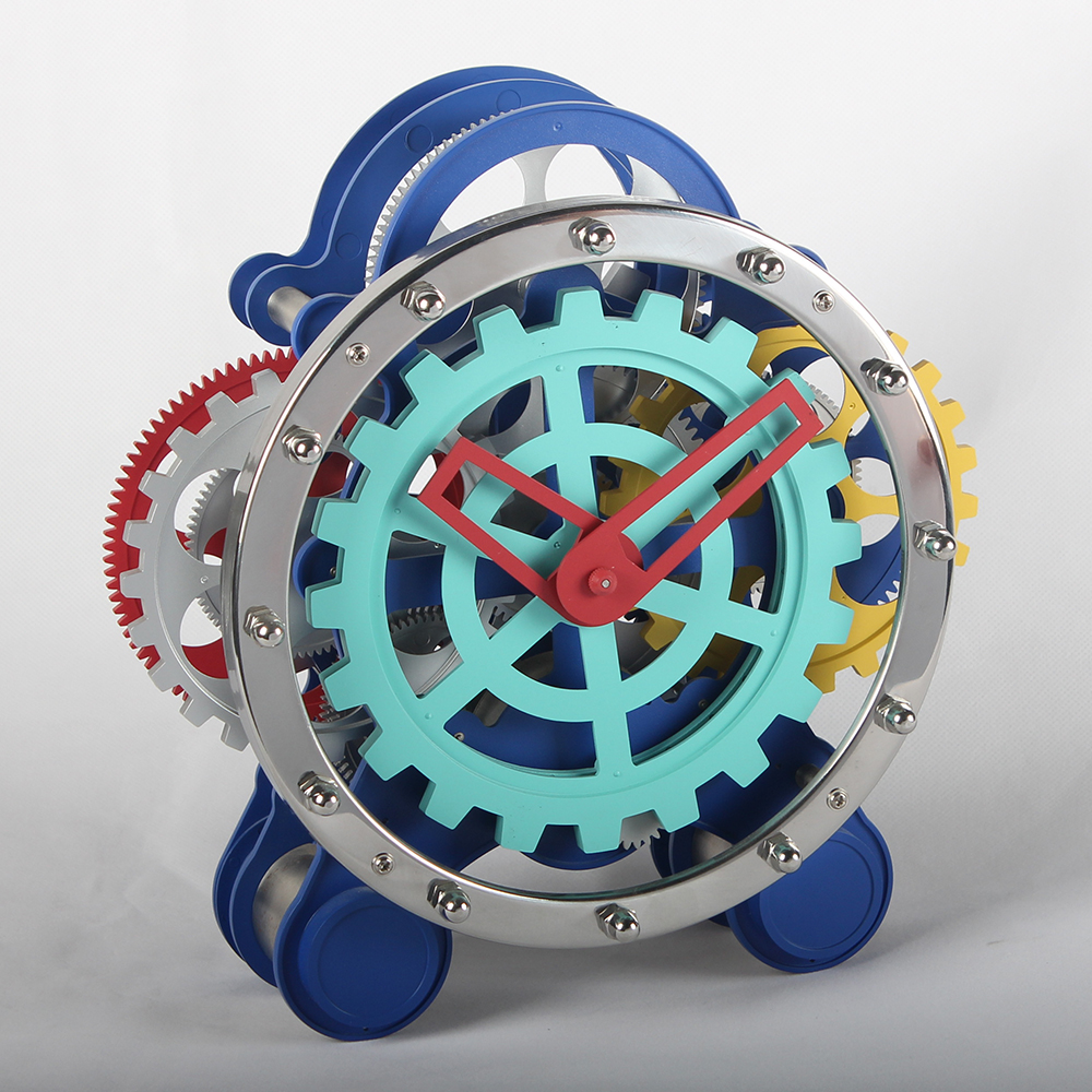 Clock Moving Gears