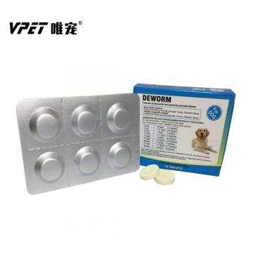 Praziquantel/ Pyrantel Pamoate/ Fenbendazole Dewormer Tablet for dogs