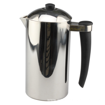Coffee French press with silicone handle