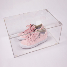 Custom Clear Acrylic Shoes Box Display Holder Stand