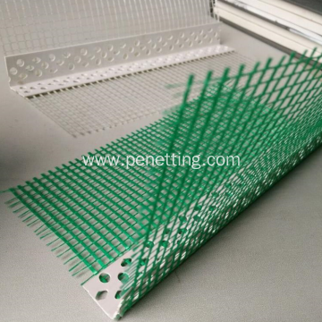 Perforated PVC Corner with Fiberglass Mesh