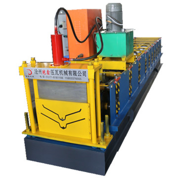 Automatic tile cutting ridge cap roll forming machine