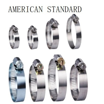 Factory Price for Stainless Steel Hose Clamps American Type Hose Clamp supply to Greece Supplier