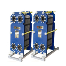 Cross flow titanium plate heat exchanger