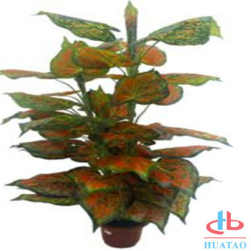 Decorative plastic small potted artificial plant