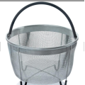 stainless steel mesh rectangular round basket