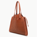 Hollow drawstring design tote bag