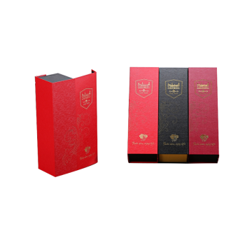 Cardboard Customized Logo Printing Wine Bottle Gift Box