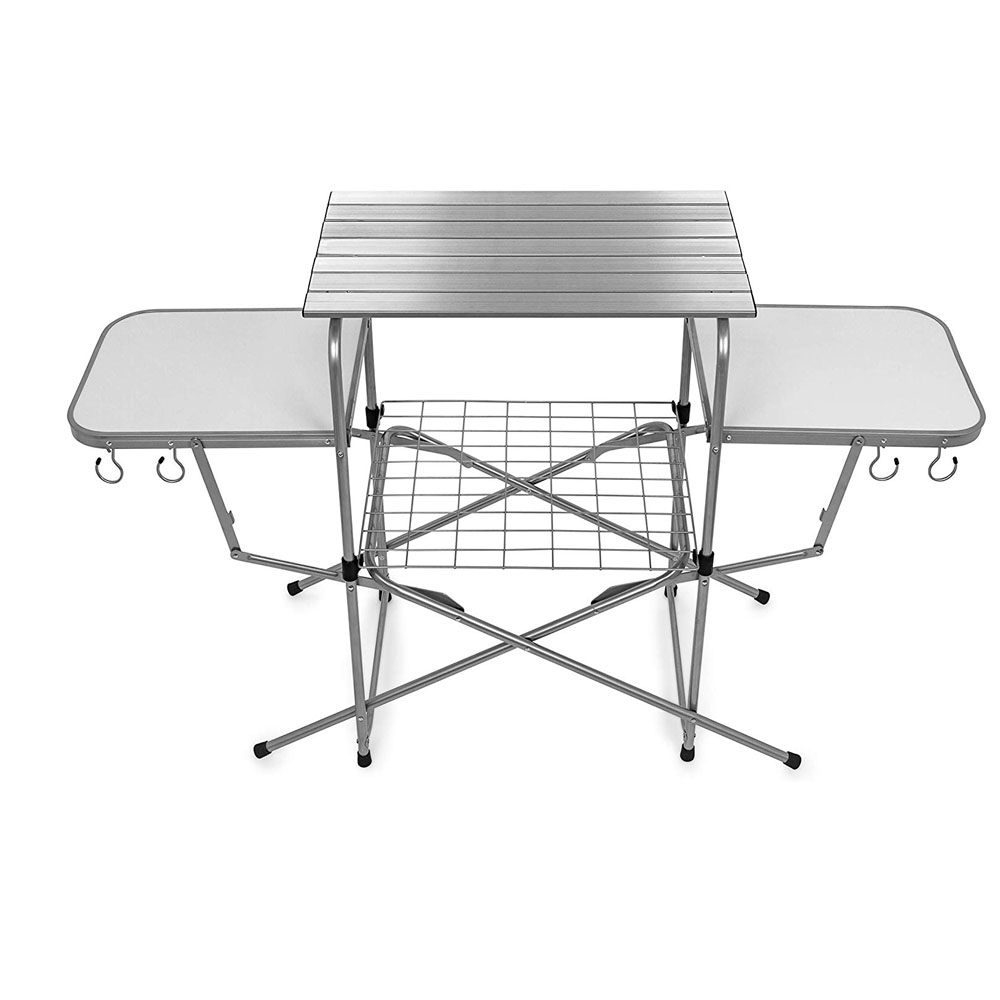 Grilling Table With Cupholders
