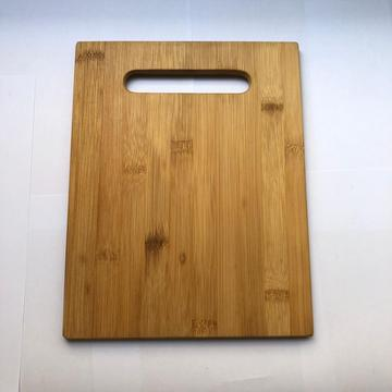 Bamboo cutting board with portable handle