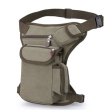 Motorcycle Hiking Canvas Tactical Belt Pouch Leg Bag