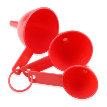 3PCS Plastic funnel set with strainer