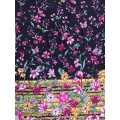 Border Flower Rayon Challis 30S Air-jet Printing Fabric