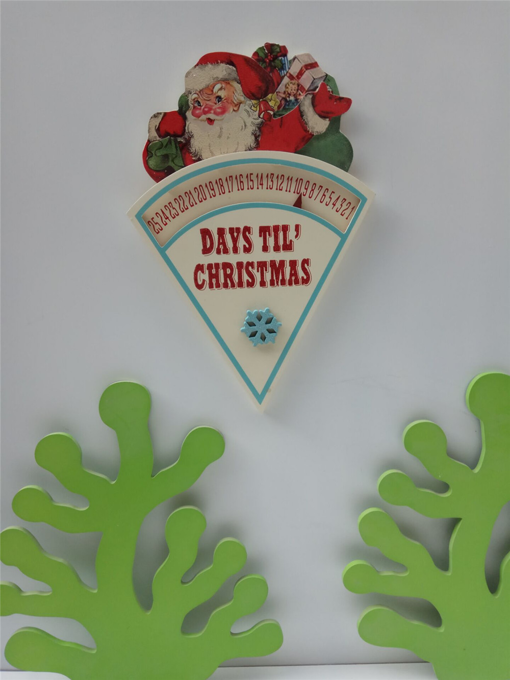 cheap wooden days til chirstmas decorartion