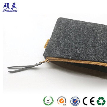 Good quality 100% polyester felt clutch bag
