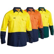 Hi Vis Cotton Drill Long Sleeve Shirt