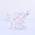 Colored Fish Shape Glass Figurine For Wholesale