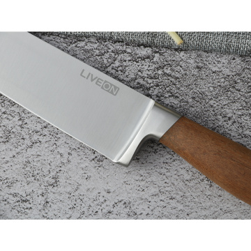 8 INCH CHEF KNIFE WITH NALNUT HANDLE