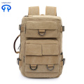 Large capacity canvas backpack outdoor bag