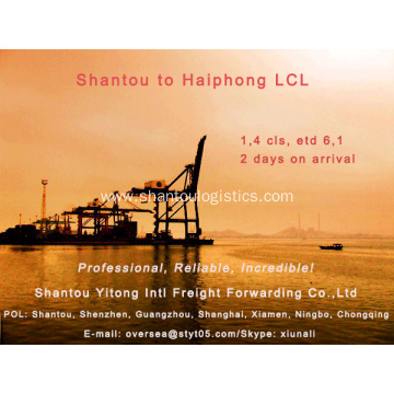 LCL Consolidation from Shantou to Haiphong