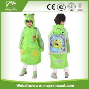 Green Kids PVC Raincoat on Sale