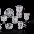 Sea style drinking glassware set wine glass