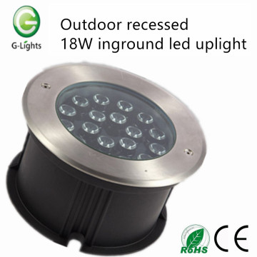 Outdoor recessed 18W inground led uplight