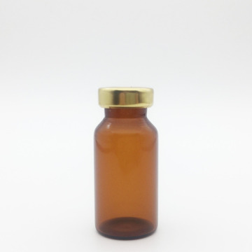 8ml Amber Sterile Serum Vials Gold Cap