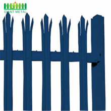 plastic coated palisade fence panel