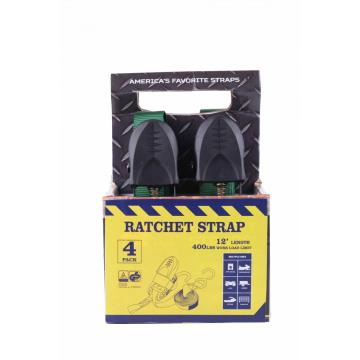 Leading for Stainless Steel Ratchet Strap 25MM / 1'' Black Rubber Green Strap Box Polyester Cargo Lashing Strap supply to Guadeloupe Importers