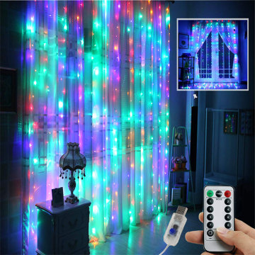 Window Curtain Fairy String Lights with Remote