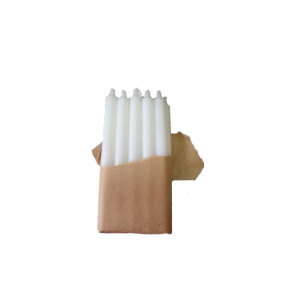 Fluted candle packed in craft paper
