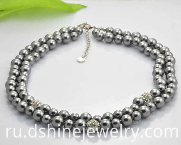 Shamballa Beads Necklace