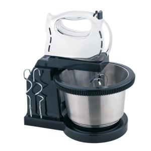 Kitchen hand stand mixer with stainless steel bowl