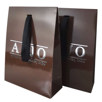 customized glossy coated paper shopping bags