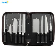 Leading for Kitchen Knife Set Professional 9piece Chefs Kitchen Knife Set in Case supply to Indonesia Manufacturers