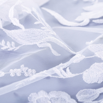 High Quality White Flower Lace Fabric