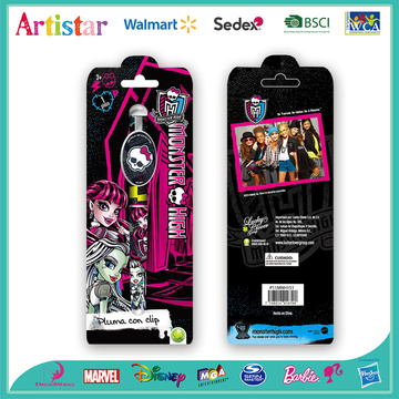 Monster High single roller pen with blister card