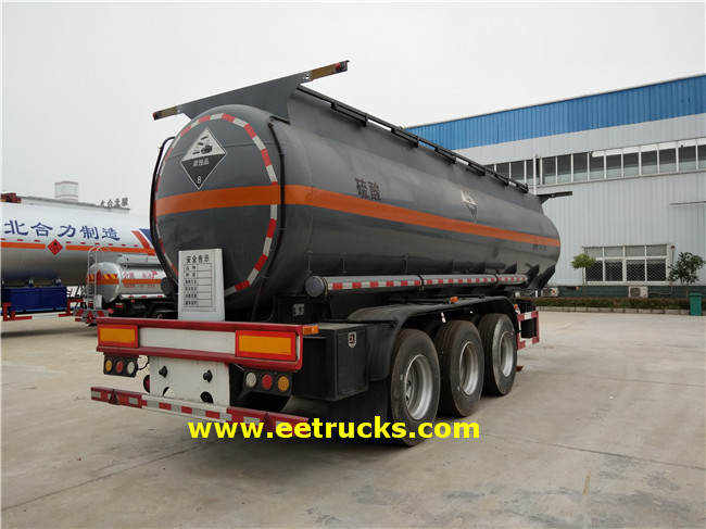 19000 Litres Sulfuric Acid Trailer Tankers