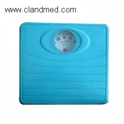 Homely blue steel bathroom scale