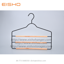 Customized for Wooden Clothes Hanger,Suit Hanger,Wire Coat Hangers Manufacturers and Suppliers in China EISHO Space Saving 3 Bar Multi Garment Hanger supply to Portugal Exporter