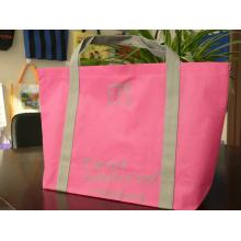 Rose slogan printed international gym club non-woven bag