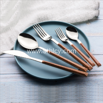 304 Imitation Wood Grain Stainless Steel Cutlery