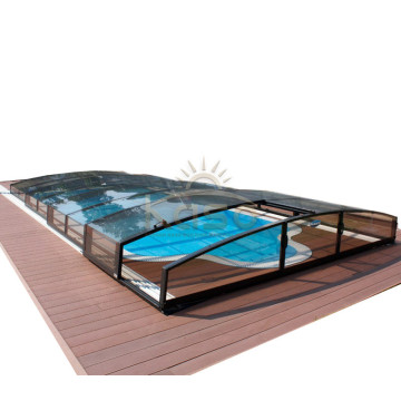 High Quality for Polycarbonate Swimming Pool Enclosures Price Kit Installation Cost Pool Enclosure Retractable supply to Niue Manufacturers