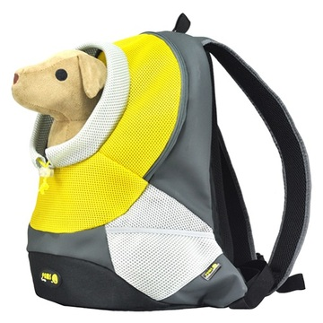 Green XLarge PVC and Mesh Pet Backpack