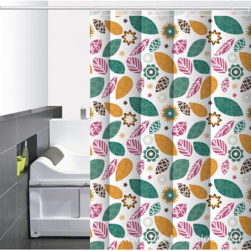 Waterproof Bathroom printed Shower Curtain with Magnets