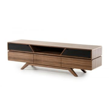 100% Original for White High Gloss TV Unit Nova  Mid-Century Walnut TV Stand export to Japan Supplier