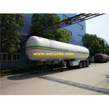 56cbm Tri-axle Propane Gas Transport Semi-trailers