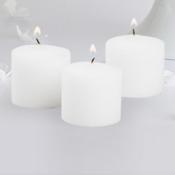 Paraffin Wax Mini Unscented Pillar Votive Candles