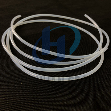Soft clear PTFE extruded tube